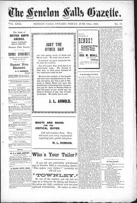 Fenelon Falls Gazette, 19 Jun 1903