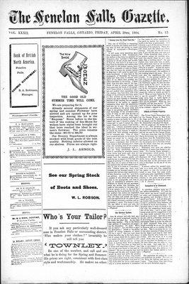 Fenelon Falls Gazette, 29 Apr 1904