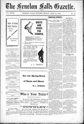 Fenelon Falls Gazette, 1 Jul 1904