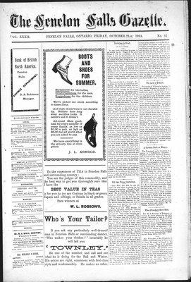 Fenelon Falls Gazette, 21 Oct 1904