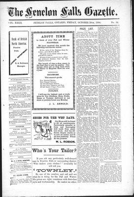 Fenelon Falls Gazette, 28 Oct 1904