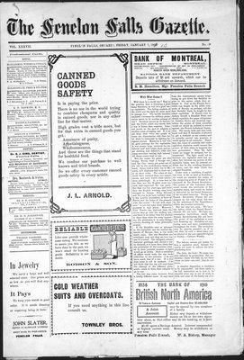 Fenelon Falls Gazette, 7 Jan 1910