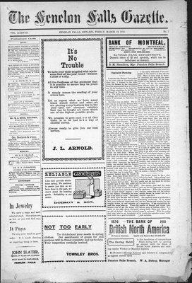 Fenelon Falls Gazette, 18 Mar 1910