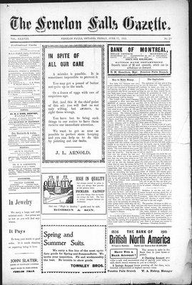 Fenelon Falls Gazette, 17 Jun 1910