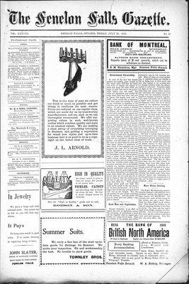 Fenelon Falls Gazette, 29 Jul 1910