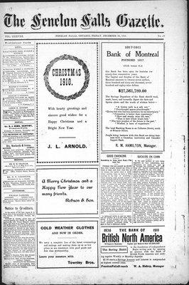 Fenelon Falls Gazette, 30 Dec 1910