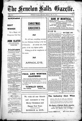 Fenelon Falls Gazette, 27 Dec 1912