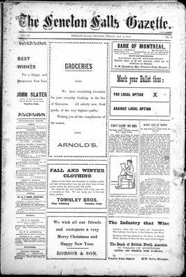 Fenelon Falls Gazette, 3 Jan 1913