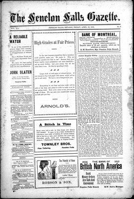 Fenelon Falls Gazette, 18 Apr 1913