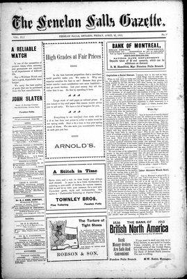 Fenelon Falls Gazette, 25 Apr 1913