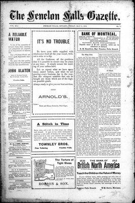 Fenelon Falls Gazette, 9 May 1913