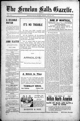 Fenelon Falls Gazette, 20 Jun 1913