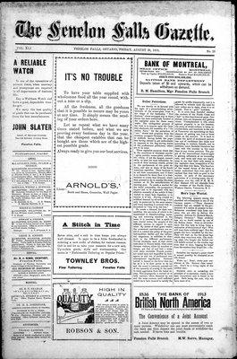 Fenelon Falls Gazette, 29 Aug 1913