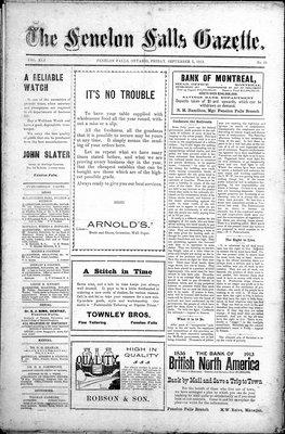 Fenelon Falls Gazette, 5 Sep 1913