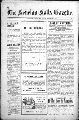 Fenelon Falls Gazette, 12 Sep 1913