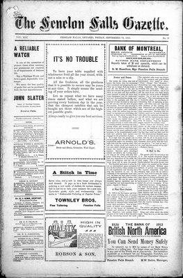 Fenelon Falls Gazette, 19 Sep 1913