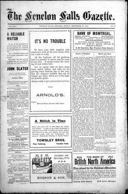 Fenelon Falls Gazette, 26 Sep 1913