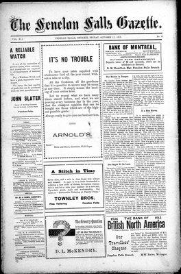 Fenelon Falls Gazette, 17 Oct 1913