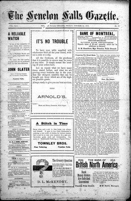 Fenelon Falls Gazette, 24 Oct 1913