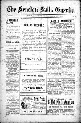 Fenelon Falls Gazette, 21 Nov 1913