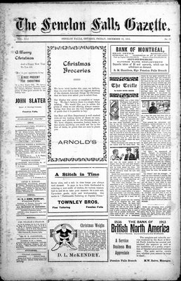 Fenelon Falls Gazette, 19 Dec 1913