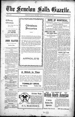 Fenelon Falls Gazette, 26 Dec 1913