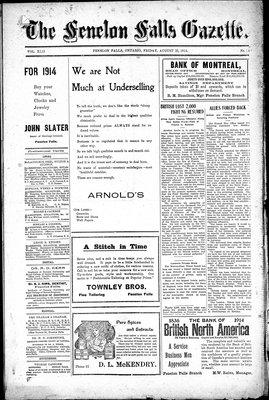 Fenelon Falls Gazette, 28 Aug 1914