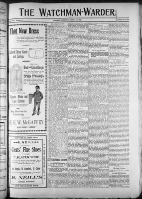 Watchman (1888), 27 Apr 1899