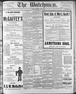 Watchman (1888), 23 Jun 1898