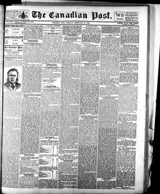Canadian Post (Lindsay, ONT), 27 Feb 1891
