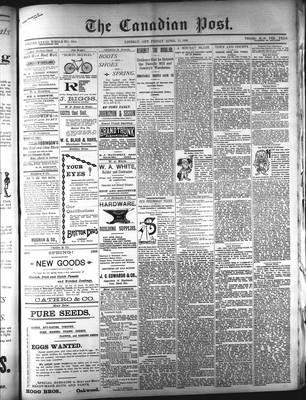 Canadian Post (Lindsay, ONT), 17 Apr 1896