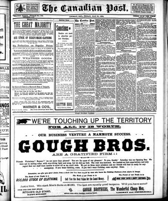 Canadian Post (Lindsay, ONT), 20 May 1892