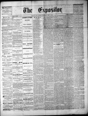 Lindsay Expositor (1869), 1 May 1873