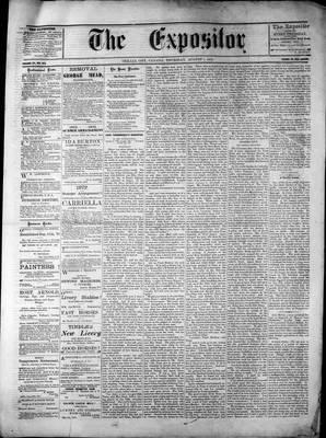 Lindsay Expositor (1869), 1 Aug 1872