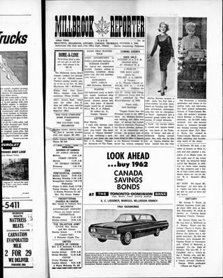 Millbrook Reporter (1856), 4 Oct 1962
