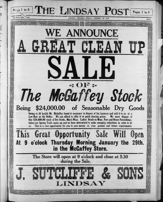 Lindsay Post (1907), 23 Jan 1914