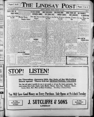 Lindsay Post (1907), 30 Jan 1914