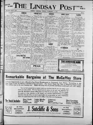 Lindsay Post (1907), 6 Feb 1914