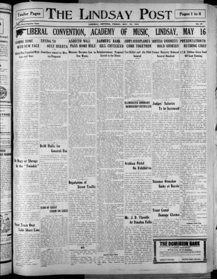 Lindsay Post (1907), 15 May 1914