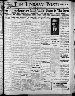 Lindsay Post (1907), 29 May 1914