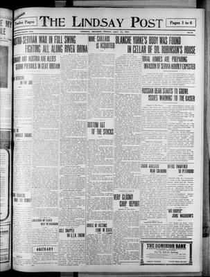 Lindsay Post (1907), 31 Jul 1914