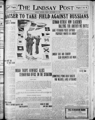 Lindsay Post (1907), 18 Sep 1914