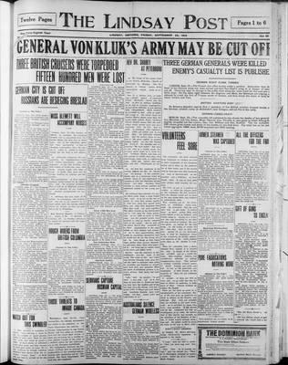 Lindsay Post (1907), 25 Sep 1914