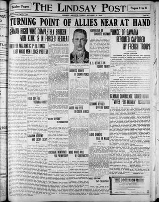 Lindsay Post (1907), 2 Oct 1914