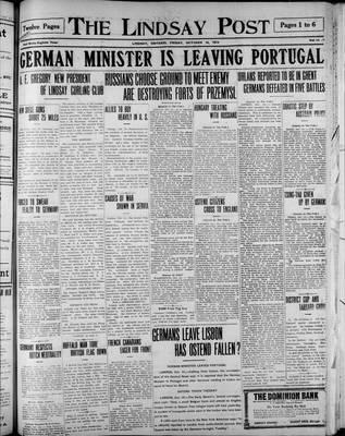 Lindsay Post (1907), 16 Oct 1914