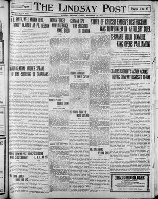 Lindsay Post (1907), 13 Nov 1914
