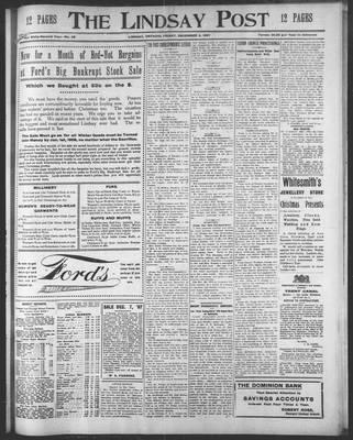 Lindsay Post (1907), 6 Dec 1907