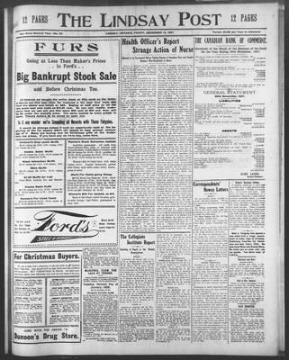 Lindsay Post (1907), 13 Dec 1907