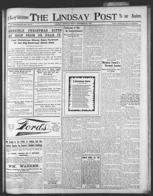 Lindsay Post (1907), 20 Dec 1907