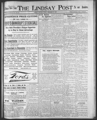 Lindsay Post (1907), 27 Dec 1907